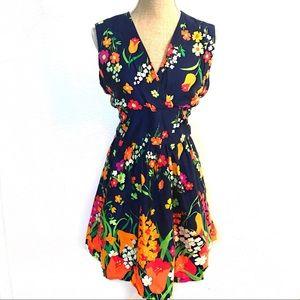 Vintage floral gogo sun dress